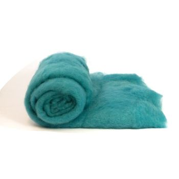Dyed Wool Batt - Aqua