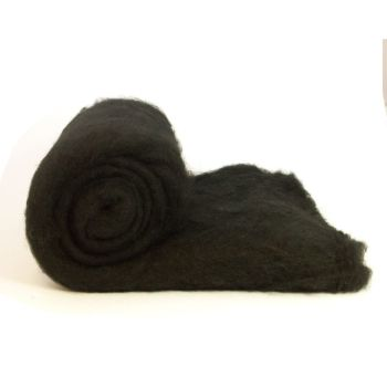 Dyed Wool Batt Black