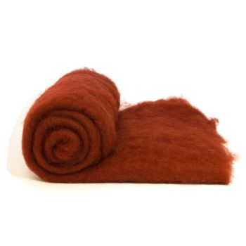 Dyed Wool Batt Deep Red