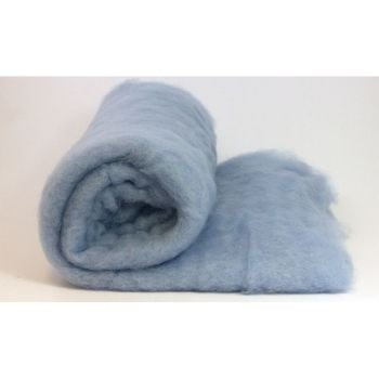 Dyed Wool Batt Light Blue