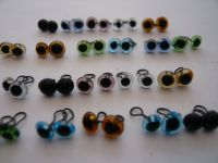 7 Mixed pairs of Glass Eyes 4mm