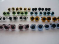 Glass Eyes 4mm (Looped back easy to sew)