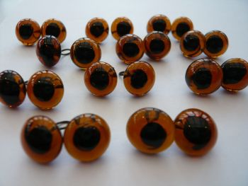 Large Glass Eyes 10mm - Choose The Colour