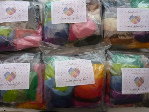 6 x Needle Felting Starter Kit - with Handle