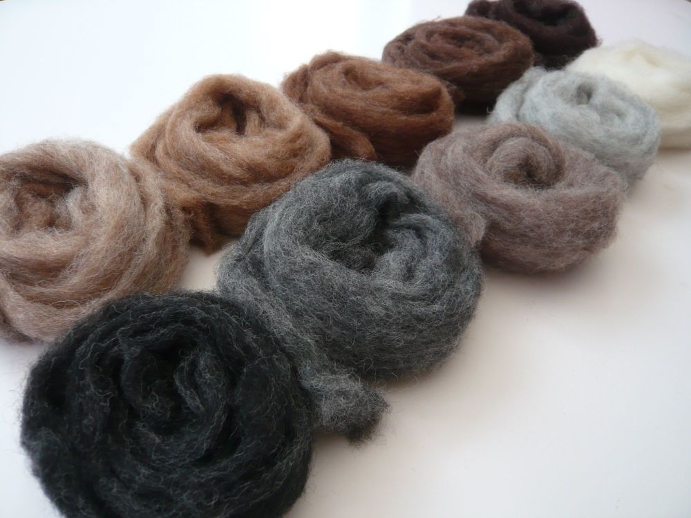 'Managerie Mix' - Natural Mixed Wool Slivers