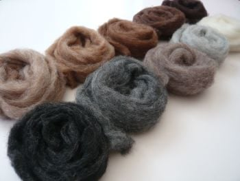 'Menagerie Mix' - Natural Mixed Wool Slivers