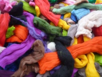 Big Bag of Wool off Cuts / Waste Wool / Wool Scraps 300g