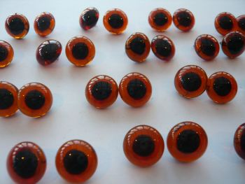 Large Glass Eyes 14mm - Choose The Colour