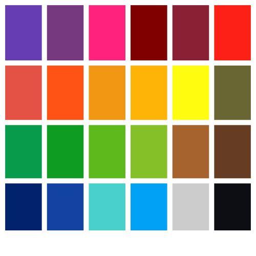 All 24 Dye Colours Pack - 10g Pots
