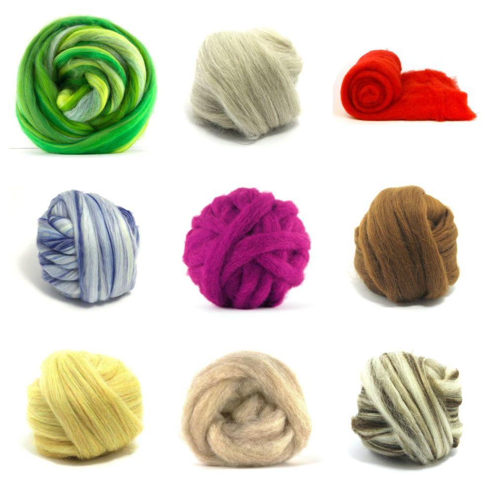 Any Wool Tops - Choose 6 Balls