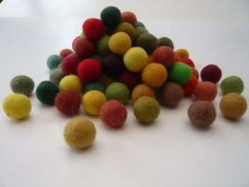 Handmade Felt Balls 2cm - Magic Forest