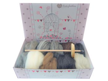 Spinning Kit - Natural Wool