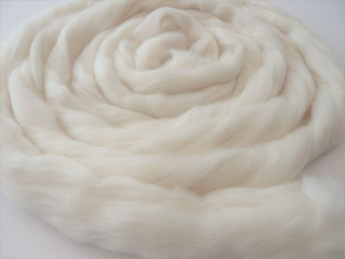 Organic Natural White Merino Wool Tops / Roving