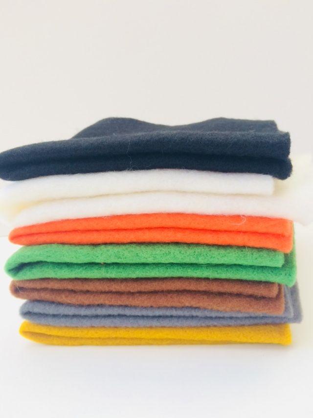 Pre Felt / Pre-felt Autumn Mix - 100% merino wool