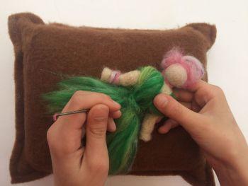 Eco Wool Mat - Medium - Brown and White