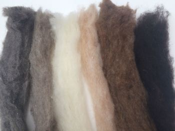 Creatures Mix- Natural Wool Sliver