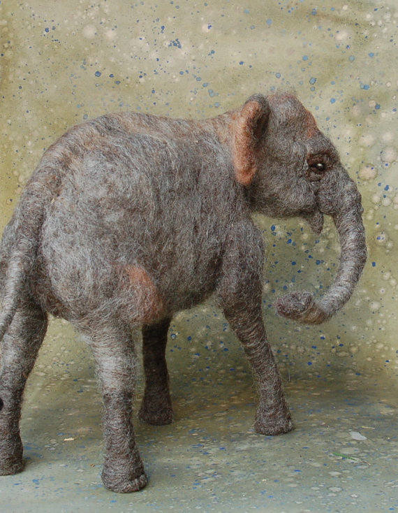 elephant felted