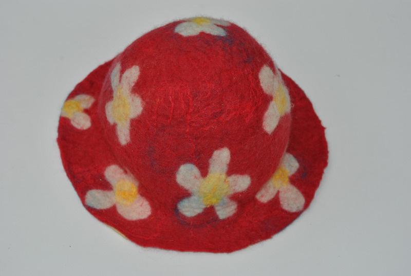 pre felt flower hat