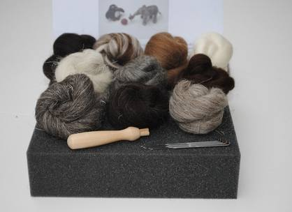 natural wool felting kit