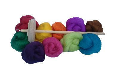 Starter Hand Spinning Kit - Merino wool