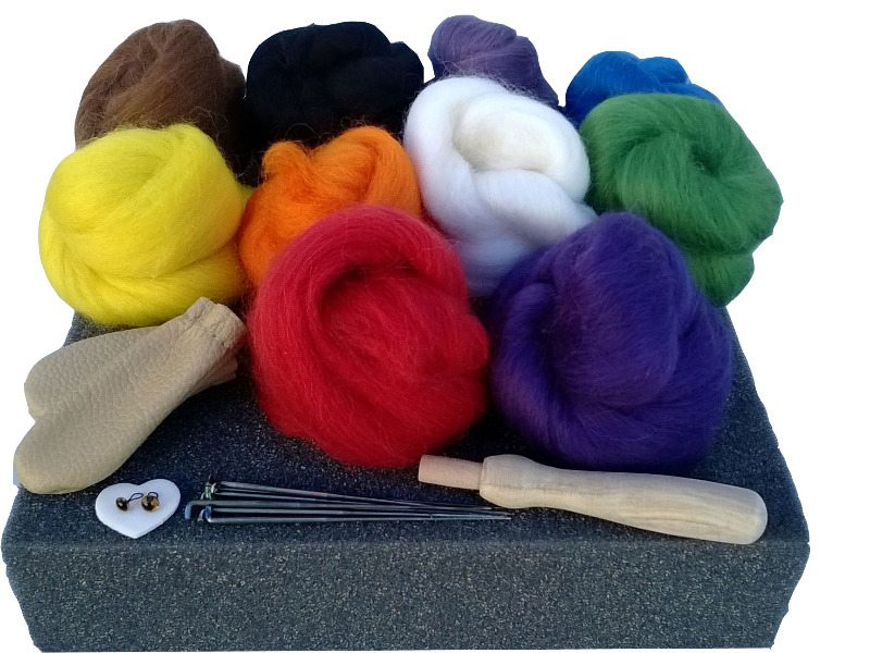 BRISH WOOL FELTING KIT
