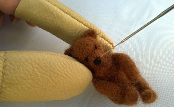 Leather Needle Felting Finger and Thumb Protectors