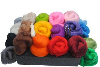 Needle Felting Kit - '20 Merino Colours'