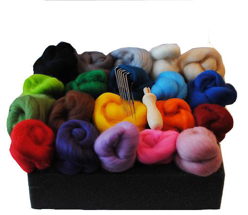 Needle Felting Starter Kit - '20 Merino Colours'