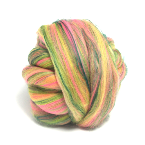 Dyed Green Bamboo and Merino Wool Blend