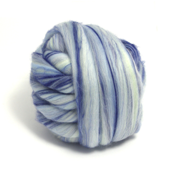 Dyed Blue Bamboo and Merino Wool Blend