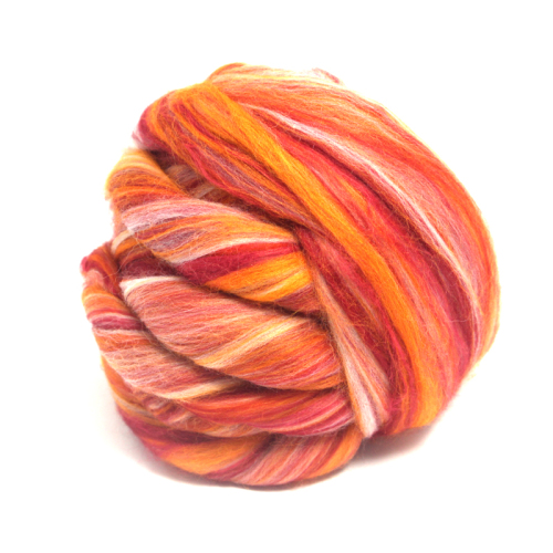 Dyed Red Bamboo and Merino Wool Blend