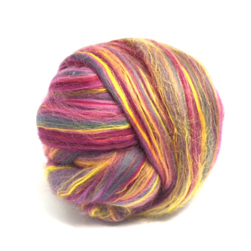 Dyed Yellow Bamboo and Merino Wool Blend