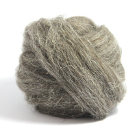 Natural Wool - Dark Grey (Coarse)