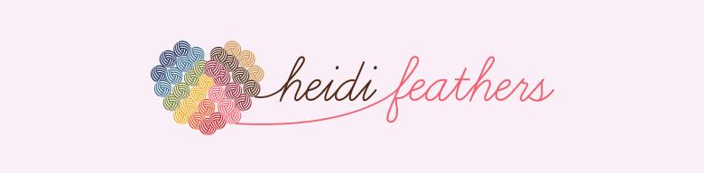 heidifeathers, site logo.