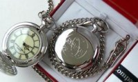 NASA Silver Plated Pocket Watch
