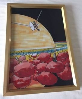 Framed Art Print From Original Space Art Work Young Girl Painting NASA