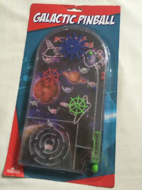 Galactic Galaxy Space Planets Portable Pinball Game Table