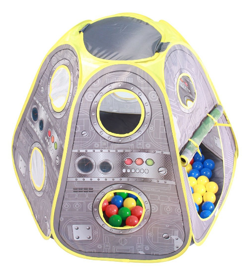 NASA ISS Air Lock Capsule Pop up Space Orbitor Playtent + 100 Brightly Colo