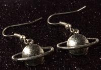 SPACE PLANET EARRINGS COOL GALAXY FUN ASTRONOMY GIFT NOVELTY ALIEN UFO