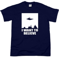 I Want To Believe Ufo Sci-Fi Science Alien Area 51 T Shirt Top