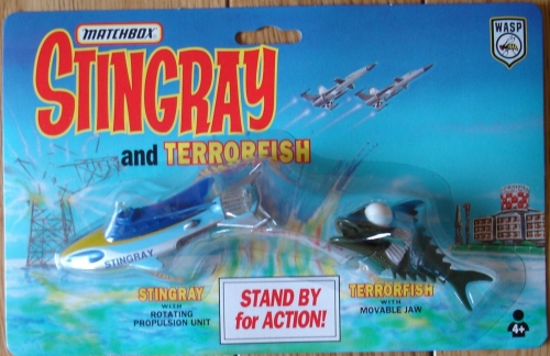 MATCHBOX GERRY ANDERSON STINGRAY AND TERRORFISH MINT ON CARD