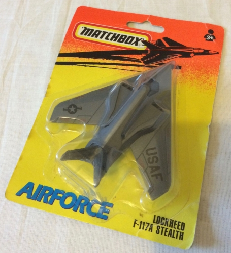 Matchbox Lockheed F-117A Stealth Aircraft USAF Diecast Model