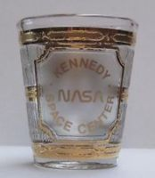 NASA 24k Gold Plated Shot Glass Very Rare