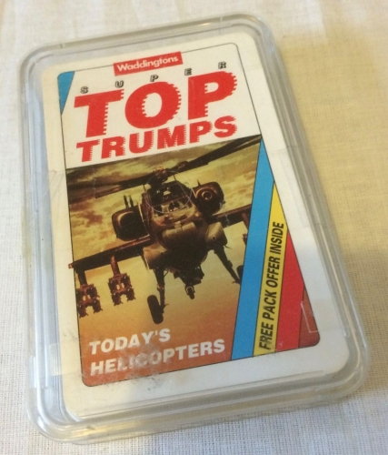 Woddingtons Top Trumps Todays Helicopters Aircraft Cards Game