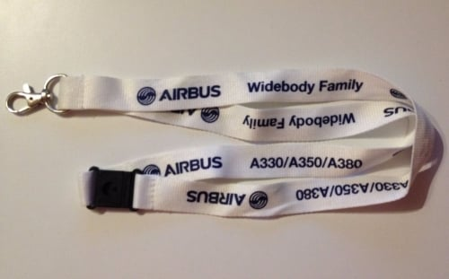 Rare Collectable Airbus Widebody Family A330/A350/A380 Lanyard Aircraft Avi