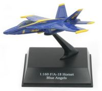 F/A-18 HORNET BLUE ANGELS Scale 1:160 SKY PILOT Die Cast Model Boeing Fighter Jet Airplane New Ray Metal Aircraft