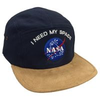 I Need My Space Embroidered Suede Flat Peak Cap Hat Astronomy NASA