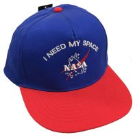 I Need My Space Blue Embroidered Suede Flat Peak Cap Hat Astronomy NASA