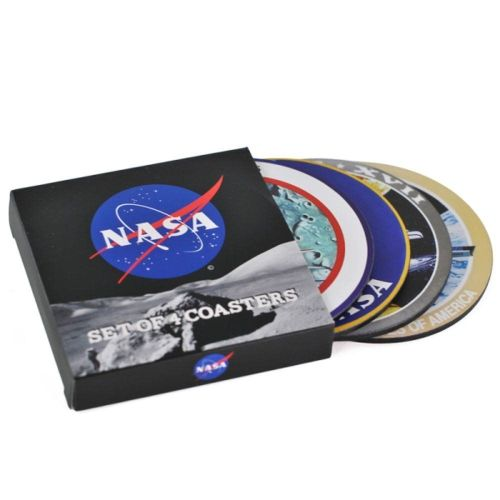 New ProductSet Of 4 Coasters, NASA Badges Patches