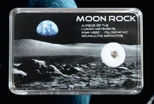 A Genuine Very Rare Lunar Meteorite NWA 4483 MOON ROCK Nasa